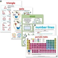 educat wall chart 5 pack maths and numeracy school supply