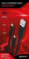 gioteck dual charge micro usb cable for playstation 4 xbox ps4 accessory
