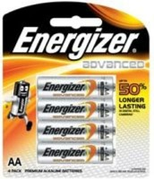 energizer advanced aa 15v 4 pack battery