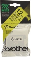 brother m k631b p touch non laminated tape black on yellow labeling system