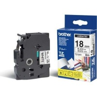 brother tz 241 p touch laminated tape black on white labeling system