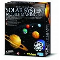 4m kidz labs glow solar system mobile making kit learning toy