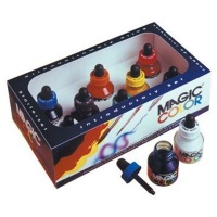 magic color acrylic ink set of 8 28ml bottles with dropper art supply