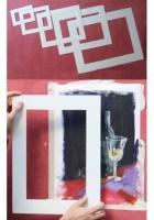 dell liz rectangular wipe clean mounts pack of 5 art supply