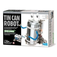 4m green science tin can robot learning toy
