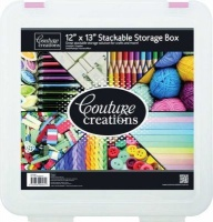 couture creations stackable storage box 12x13 craft supply