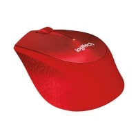 logitech m330 wireless mechanical mouse right hand red accessory