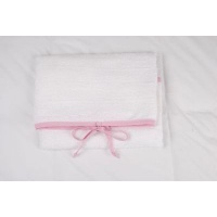 tom and bella change mat cover pink chambray bag