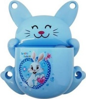 bunny toothbrush holder blue bathroom accessory
