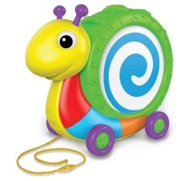 the learning journey pull along snail drum noisemaker