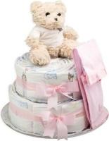 bebedeparis chic nappy cake size 2 3 6kg pink bag