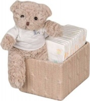 bebedeparis happy nappy baby box size 2 3 6 kg brown bag