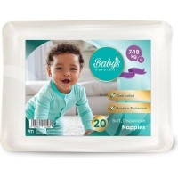 babys naturally disposable nappies l 7 18kg 20 pack bag