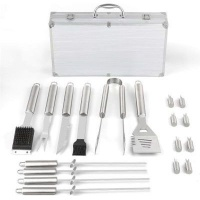 KitchenFX Stainless Steel BBQ Braai Grill Tool Set