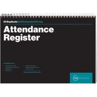 rbe a4 attendance register spiral bound book of 2 other