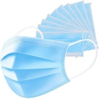 Non Branded 3Ply Disposable Face Mask with Ear Loops