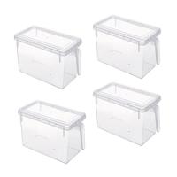 Maisonware Transparent PP Storage Box Set of 4