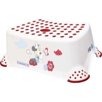 disney baby minnie mouse step stool with anti slip function bath potty