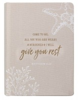give me rest linen journal hardcover other