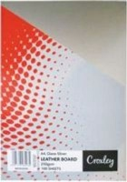 croxley a4 binding board 250gsm 100 pack silver gloss school supply
