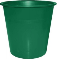 bantex translucent pp round waste paper bin 10l green school supply