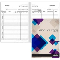 treeline stitched attendance register soft cover book a4 office machine