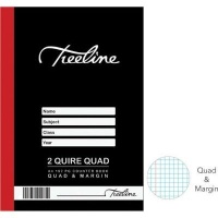 treeline quad margin 2 quire hardcover book a4 192 pages other