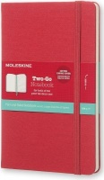 moleskine two go hard medium ruled raspberry 100gsm other