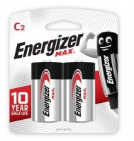energizer max alkaline c e93 card 2 pack battery
