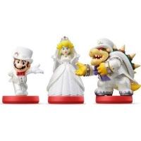 amiibo super mario wedding peach and bowser 3 set gaming merchandise