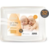 babys naturally prem nappies 32 pack up to 2kg bag