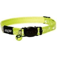 rogz catz silkycat 11mm safeloc breakaway cat collar lime collars leash