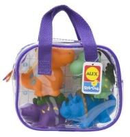 alex toys bath squirters dinos in bag baby toy