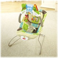 fisher price rainforest friends deluxe bouncer pram stroller