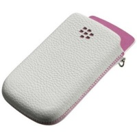 blackberry premium leather pocket torch 9800 white and cellular accessory