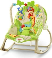 fisher price rainforest friends infant to toddler rocker pram stroller