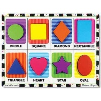 melissa and doug shapes chunky puzzle learning toy