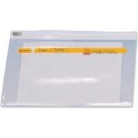 rexel zip bag a5 clear