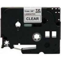 brother tz 121 p touch laminated tape black on clear labeling system