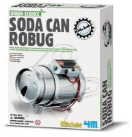 4m green science soda can robug learning toy