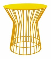 fundi living drum side table yellow living room furniture