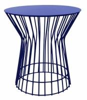 fundi living drum side table blue living room furniture