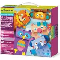 4m animal paper bag puppets craft supply