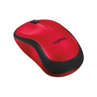 logitech m220 wireless mouse red and black accessory