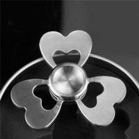 fidget spinner heart silver electronic toy