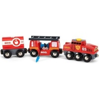 brio rescue firefighting train electronic toy