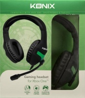Konix Over Ear Gaming Headphones with Microphone for Xbox One