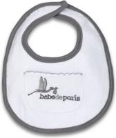 bebedeparis baby pocket bib and grey feeding