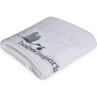 bebedeparis baby towel 45x92cm medium white and grey bath potty