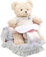 bebedeparis motorbike nappy cake size 2 3 6 kg pink bag